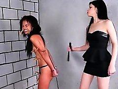 Brezilyalı köle lezbiyen BDSM'den Pollys