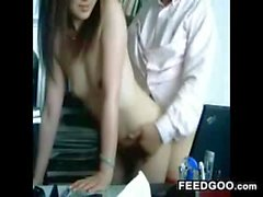 Asian Secretary And Her Boss Fucking