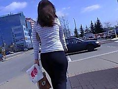 Скрытая Торговый центр Осел в йоги штаны взаимодействию с Ней