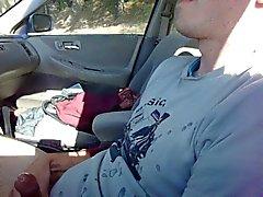 Barn för stötpoker Cums i bilen