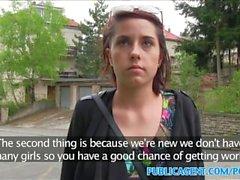 PublicAgent студенческая с большими сиськами трахнули в парке