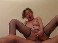 Italian mature tranny in a suck and fuck session