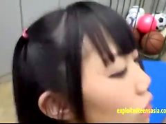 Small tit asian toyed and fingered