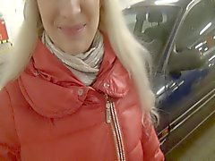 Beauty Blonde in Blowjob Garage
