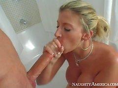 Amazing busty teacher Sara Jay fucks with her hung student