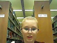 Verrückten Bibliothek Mädchen