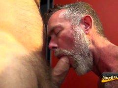 Barebacking urso maduro