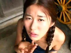 Amadora peluda asiática jovem grávida enjoys um quente ejaculação interna