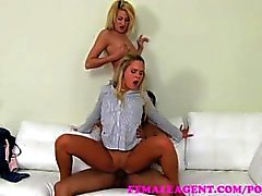 FemaleAgent . Leidenschaft und Nackt flotten Dreier Casting