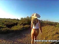 Clignotant sans culotte retour à la plage
