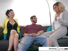 Jessica Jaymes & Aaliyah Hadid baise une grosse bite, grand butin et gros seins