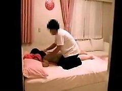 Tonåring Asiatisk Blondin Fingrar Till Orgasm