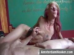 Holländska prostituerad tar klibbig ansikts