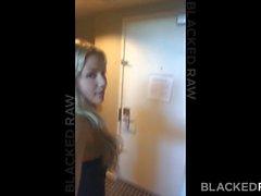 BLACKEDRAW Blonde girlfirend обманывает после вечеринки
