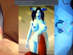 Cum Tribute to Alecia (Draenei World of Warcraft)