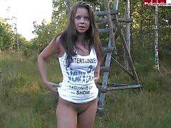 Sweety del alemán se divierten en bosque