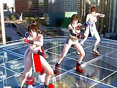 Tifa , Kasumi & Mai Dansen Topless
