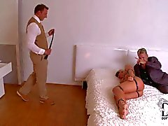 Tied up Kathia Nobili gets whipped and anally used