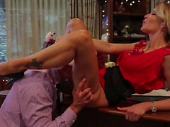 It's Christmas time and Jessica Drake and her cock craving