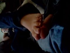Lorraine gives a footjob to me