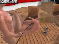 En barco mar adentro ellos carajo dos sementales 3D