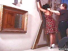 Sexig hemmafru Rosa är bunden i rep part6