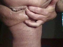 Total wrecking mein saftiges Arschloch mit einer Karotte butthole Butterkanne