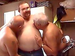 Superchub trekanter - Barn för knubbig pojke och hans två år äldre Daddy Bears