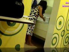 Spanska filippina medarbetare hotell på cam