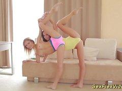 Novias flexibles que se extienden