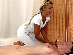 Tilki İşlemleri Eşcinsel bebeğim yağlı bir tüm vücut masajı olur