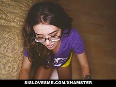 SisLovesMe - Создание мой сводный -Сис Swallow Мой кончина
