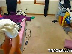 Hacked Webcam fängt Teen masturbiert zum Orgasmus