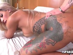 Busty Tranny Polly A Gets Buttfucked
