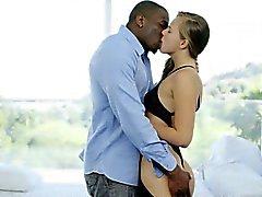 Blacked 18yr Edad Jillian de Janson cuenta sexo anal con BBC