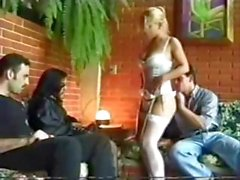 Isis Fischer and her friends get a good old foursome going in the family room