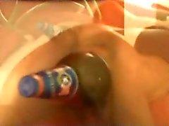 Pregnant big beer bottle