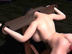 Animasyon dişi köpek büyük yapay penis ile dövülerek alır