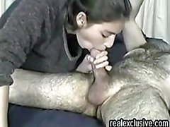 Fabiola eating cum my very hairy hubby