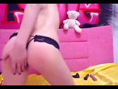 Small titted amateur girl with a magic wand