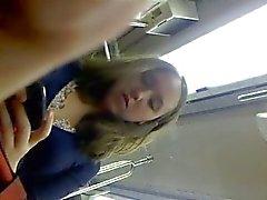Upskirt in metro