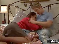 British MIlF With Teen Guy