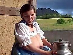Traditionelle deutsche Milch Trau