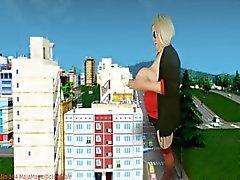 Titzilla Grows & Destroys City