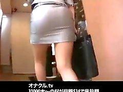 Señora japonesa de la Oficina Orgías incondicional Follando
