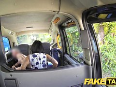 Fake Taxi massage ends in huge facial after fuck