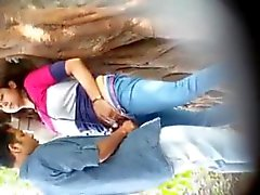 Indian couple outside