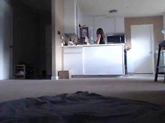 Webcam Cute Brunette Teen Dedos
