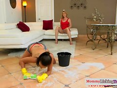 Les stepmom dildo fucking with stepdaughter