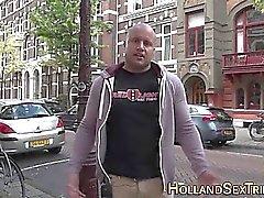 Blond holländska proffs rasat